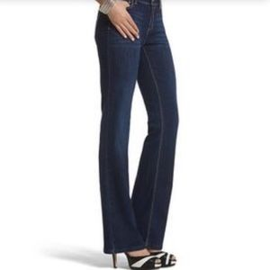 WHBM Boot Cut Embellished Jeans
